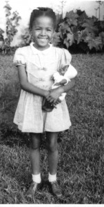 Catana at 7years with doll Lulu