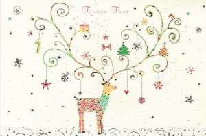 Decorated Christmas Deer